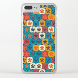 Blobs and tiles Clear iPhone Case