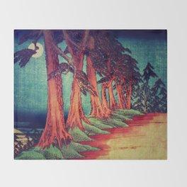 Midnight on the path towards Kanama Throw Blanket