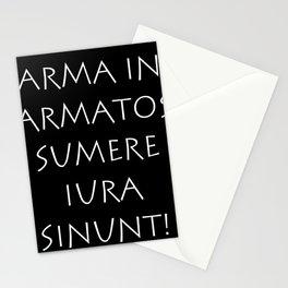 Arma in armatos sumere iura sinunt Stationery Cards
