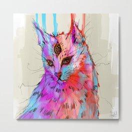 Gata Cat Metal Print