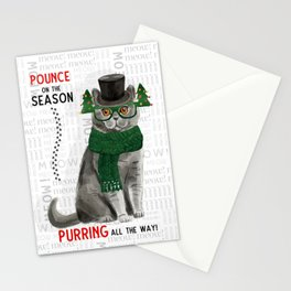 British Shorthair Christmas Cat Stationery Cards