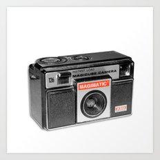 Retro Camera Art Print