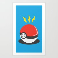 pokeball Art Prints featuring Pokeball by Aidan Toole
