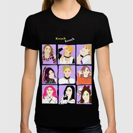 Knock Knock! Purple Version T-shirt