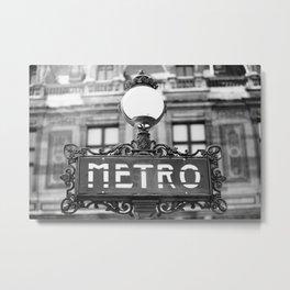 Metro - Paris, France Metal Print