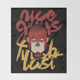 The flash is dead Throw Blanket