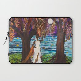 Woman of the Moon original painting by Barbara Sayre Laptop Sleeve