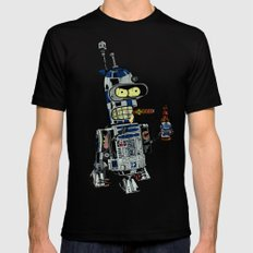 BendR2D2 X-LARGE Black Mens Fitted Tee