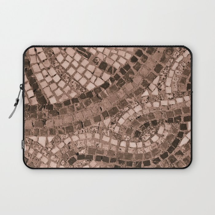 coral coloured stone tile Laptop Sleeve by janicemf