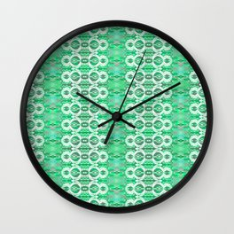 Glowing Resonant Boho Psychedelic Goth Romantic Green Lace Wall Clock