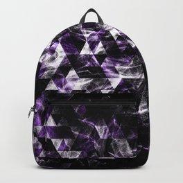 Triangle Geometric Purple Smoky Galaxy pattern Backpack