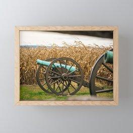 Cannon amongst the Corn Antietam National Battlefield Civil War Battleground Maryland Framed Mini Art Print