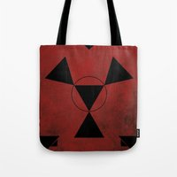 digimon Tote Bags featuring Guilmon by JHTY