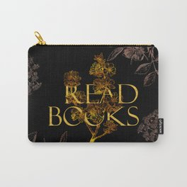Read Books gold typography Carry-All Pouch