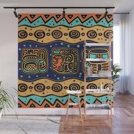 Aztec Maya Glyphs and ornaments Wall Mural