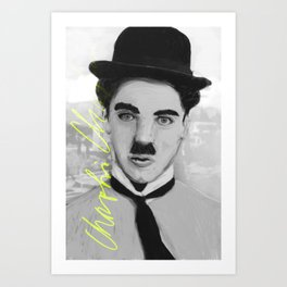 Silent Film Series: Charlie Chaplin Art Print