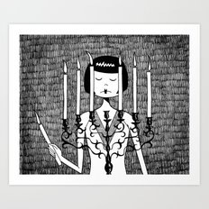 Eloise sets the mood Art Print