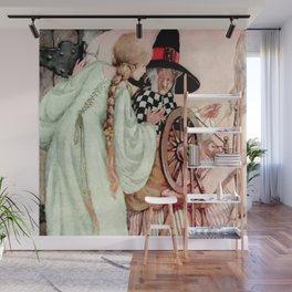 """Briar Rose"" Fairy Tale Art by Anne Anderson Wall Mural"