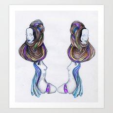 humans-prog Art Print