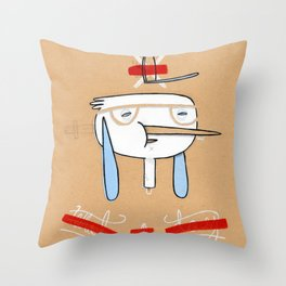 """One of those days when you say  """" what a day"""" Throw Pillow"""