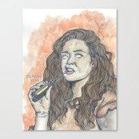 oitnb Canvas Prints featuring Nichols OITNB by Ashley Rowe