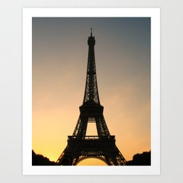 Eiffel Tower Daybreak Art Print