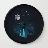 contact Wall Clocks featuring Contact by filiskun