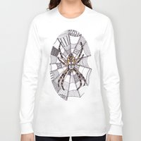 spider Long Sleeve T-shirts featuring Spider by Laura Maxwell