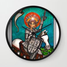 Joan of Arc Wall Clock
