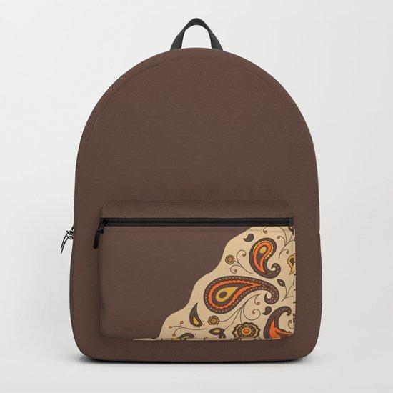 Paisley Brown Pattern Backpack