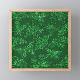 Butterfly Pattern Green Framed Mini Art Print