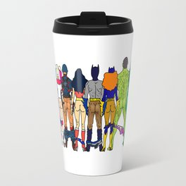 Superhero Butts - Power Couple Travel Mug