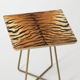 Faux Siberian Tiger Skin Design Side Table