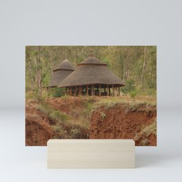 Konso Huts New York Sandstone Clifts Ethiopia Africa Mini Art Print