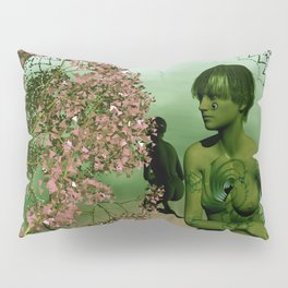 the mirrored fractal woman Pillow Sham