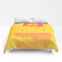 Yellow clouds Comforters