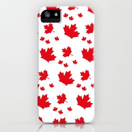 Canada Maple Leaf-Large-White iPhone Case