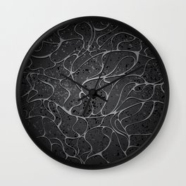 Black Granit Background Wall Clock