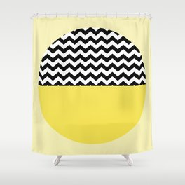 Moiety Yellow Shower Curtain