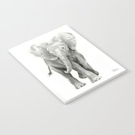 Baby Elephant Watercolor Notebook
