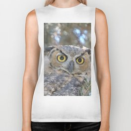 Young Owl at Noon Biker Tank