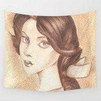 bioshock Wall Tapestries featuring Bonjour, Elizabeth by JadeJonesArt