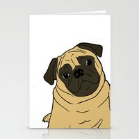 pug Stationery Cards featuring PUG by Elena O'Neill