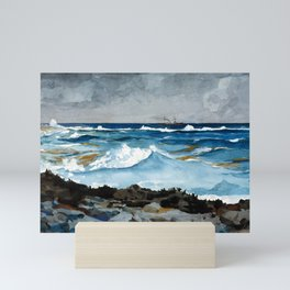 Winslow Homer Shore and Surf, Nassau Mini Art Print