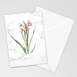 Sword Lily Flower Stationery Cards