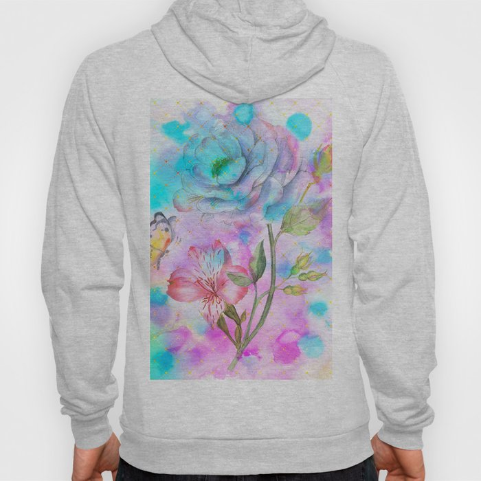 floral alcohol ink painting Hoody
