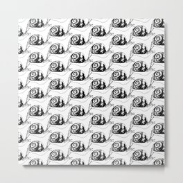 Snails Drawing/Pattern Metal Print