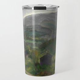 "George Wesley Bellows ""Old Barn - Grey Day"" Travel Mug"
