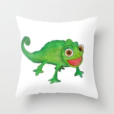 Pascel (From Tangled) Watercolor Throw Pillow