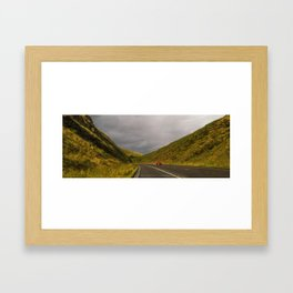 Rainy day in the Pennine Hills Framed Art Print